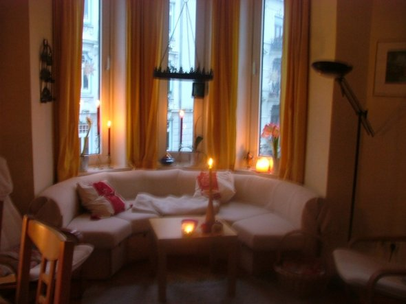 weihnachtsdeko 39 wohnzimmer 39 mein domizil zimmerschau. Black Bedroom Furniture Sets. Home Design Ideas