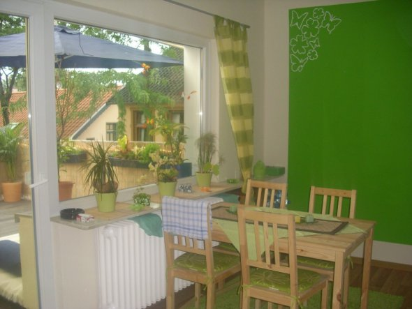 Küche 'grüne frühlingsoase'
