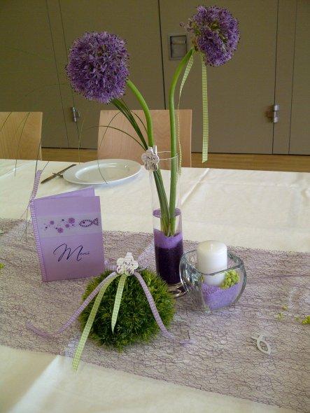 Tischdeko zur Kommunion meiner Tochter
