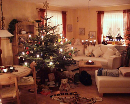 richtig weihnachtlich wurde es in diesem Raum, sobald die Lichterketten eingeschaltet wurden. Der Duft des Baumes, die Plätzchen... Wohlfühlfaktor 10