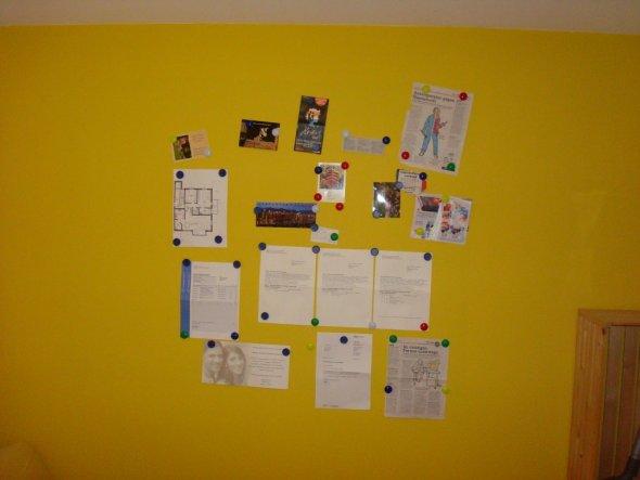 Das Highlight an dem Zimmer es ist eine Mangnet Wand