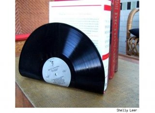 Tipp & Trick 'Buchstützen aus Schallplatten selber machen'