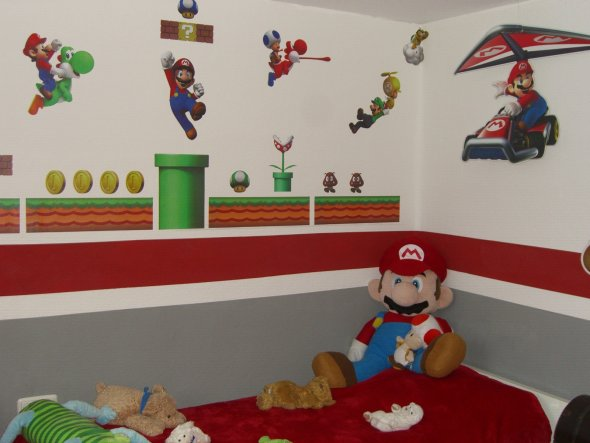 kinderzimmer 39 finn s super mario world 39 kindertraum zimmerschau. Black Bedroom Furniture Sets. Home Design Ideas