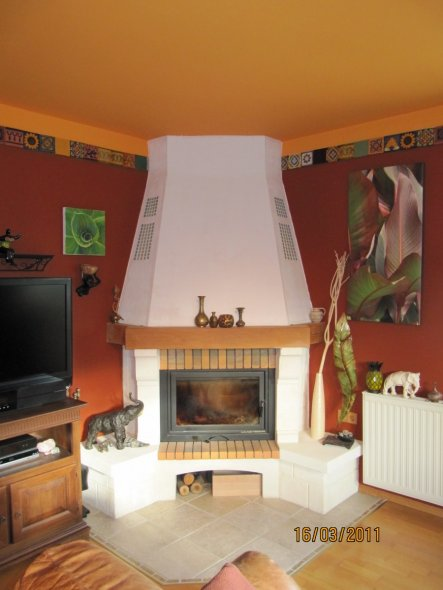 Wohnzimmer 'Wohnzimmer 2010 in rotbraun'