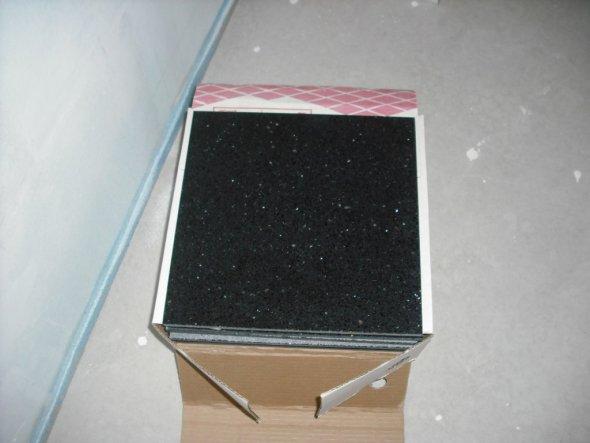 Bodenfliesen 30x30 Quarzkompositstein schwarz