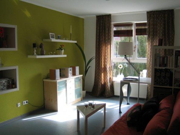 wohnzimmer 39 wohnen schlafen arbeiten 39 meine erste. Black Bedroom Furniture Sets. Home Design Ideas
