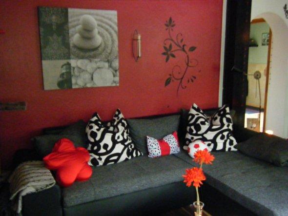 Gartengestaltung Bilder Sichtschutz ~ Innenarchitektur Und Möbel Ideen Wohnzimmer Mit Rot