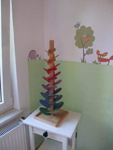 In den Kinderzimmern habe ich gerne Wandtatoos, die kann man kurzfristig auch mal ändern.
