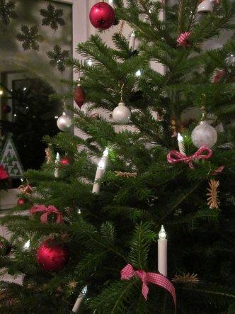 Unser Tannenbaum darf bis zum 06.01. im Wohnzimmerstehen.