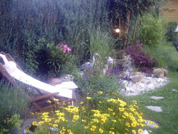 Garten 'Teich im Juli'
