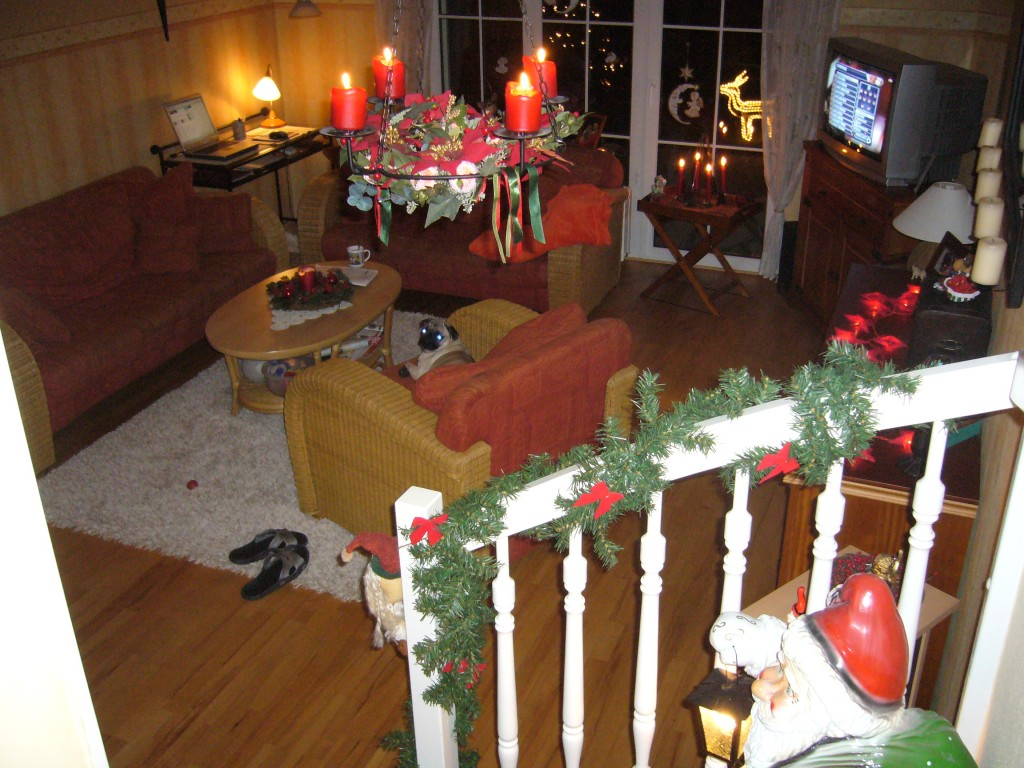 weihnachtsdeko 'wohnzimmer' - mein domizil - zimmerschau