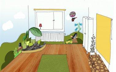Kinderzimmer 'Der kleine Maulwurf'