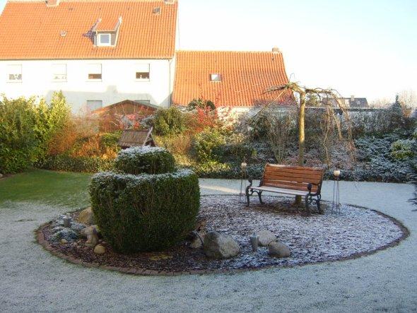 im Winter beliebter Tummelplatz der Vögel zur Nahrungsaufnahme.