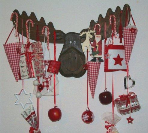 Weihnachtsdeko 'weihnachtliches Wohnzimmer'