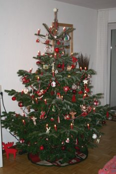weihnachtliches Wohnzimmer