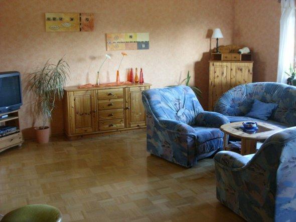 Wohnzimmer-Ausschnitt TV/Sideboard, Couch, Eckschrank