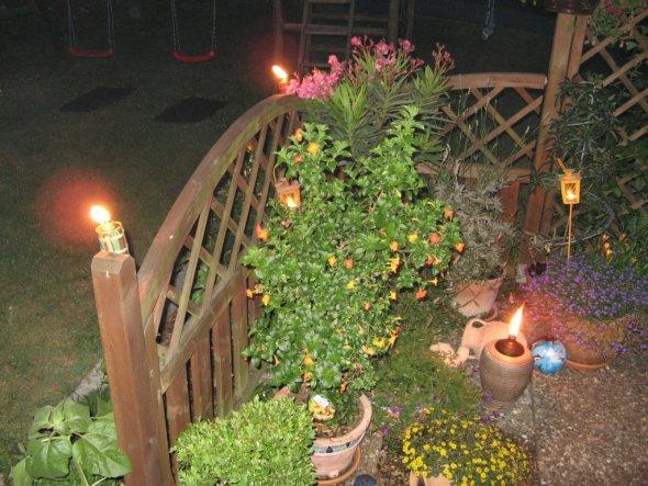 Terrasse an einem schönen Sommerabend...