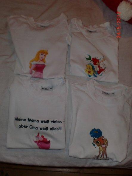 Hab mal ein paar T-Shirts meiner Enkelin mit Bügelbildern verschönert