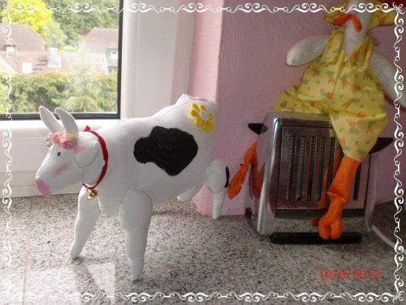 Die Kuh Elsa...endlich steht sie!!!