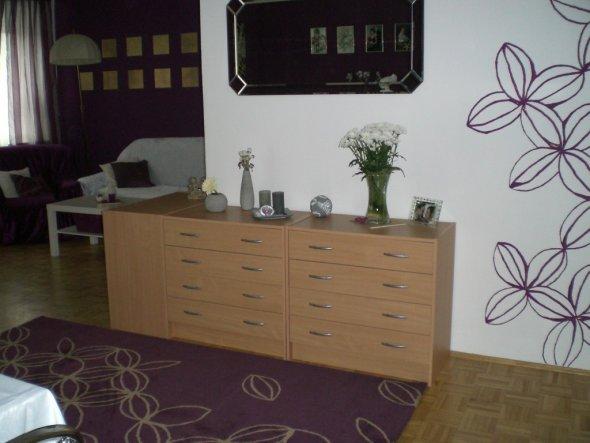 wohnzimmer lila weiß:Wohnzimmer 'Lila/Weiß' – Mein Domizil – Zimmerschau