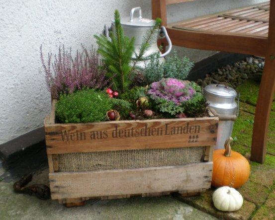 Deko unser kleines haus von landratte 20834 zimmerschau - Herbstdeko mit erika ...
