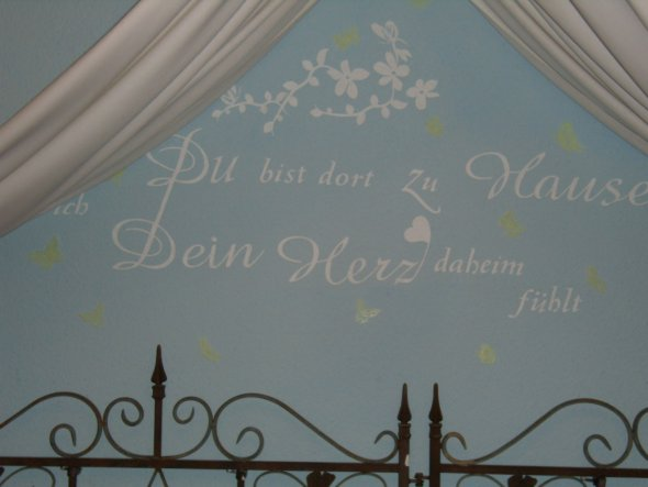 Schlafzimmer 'Träume in hellblau der neu weiß wurde'