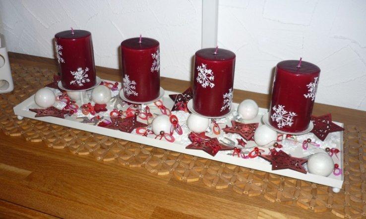 Weihnachtsdeko 'Adventstablett'