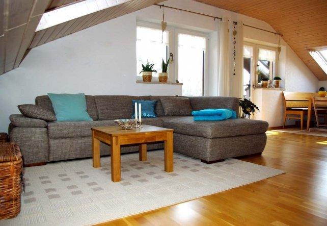 Wohnzimmer 'Im Dach wohnen'