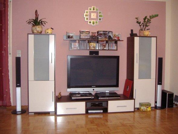 mit Plasma TV,HifiSystem und  Festplatten-Recorder