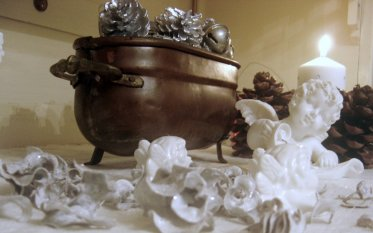 Weihnachten in Weiß und Silber