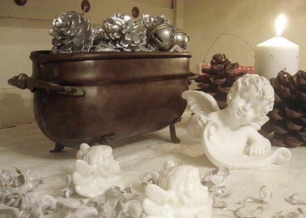 Weihnachtsdeko 'Weihnachten in Weiß und Silber'