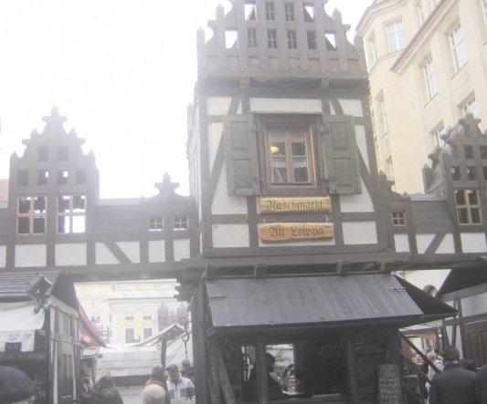 Hier war der Eingang zum Mittelaltermarkt