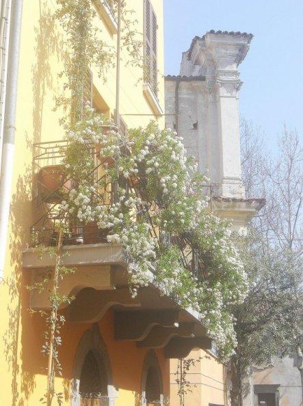 Der Balkon hat es mir einfach angetan, er sah so herrlich romantisch aus