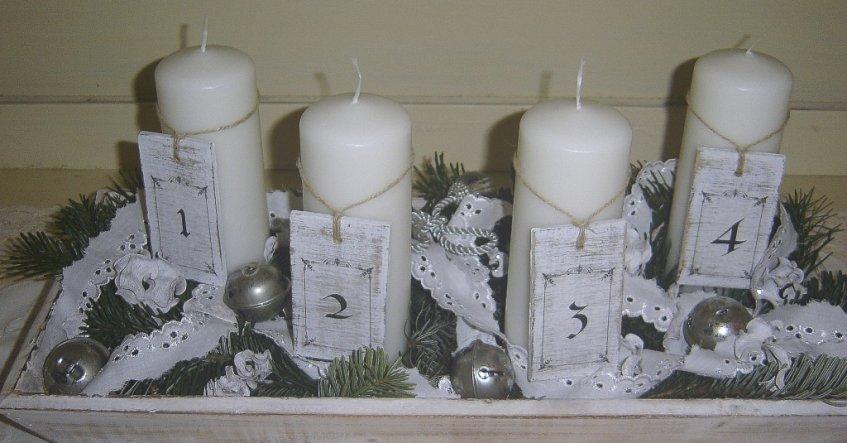 Weihnachtsdeko In Silber Und Weiß.Weihnachtsdeko Immer Noch Klein Und Immer Noch Mein Von