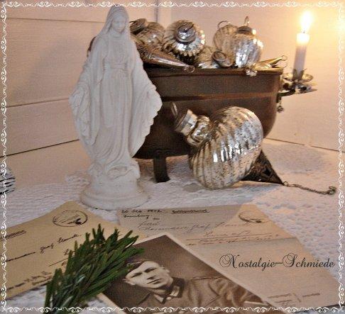 Weihnachtsdeko 'Weihnachtspost zum Nachdenken'