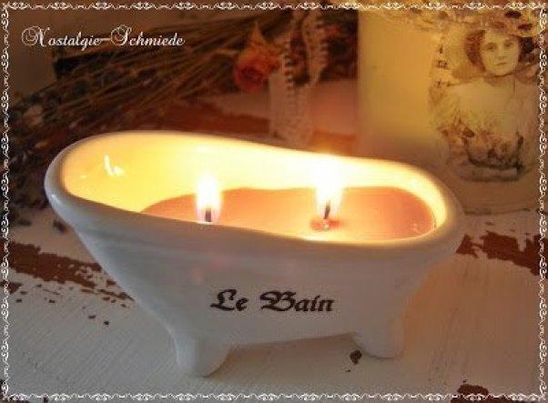 Kerzenschein und Entspannung bei einem schönen Bad - das hat schon was ;-)