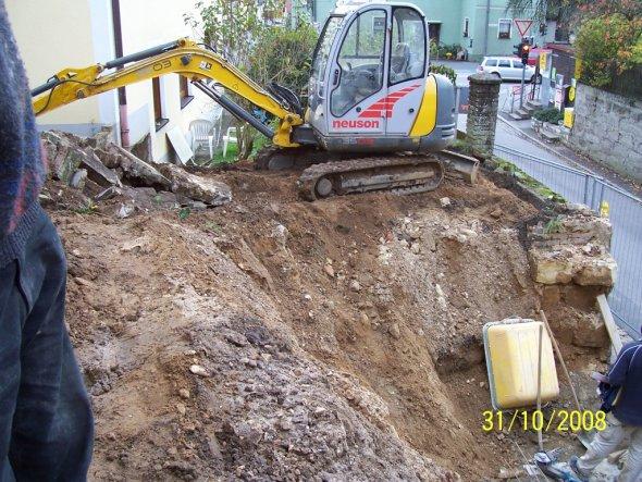 Okt.08, der Garten wird total umgebaut