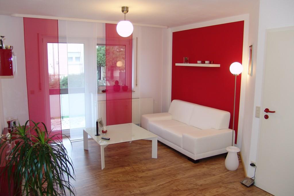 Stunning Wohnzimmer Weis Rot Pictures - House Design Ideas