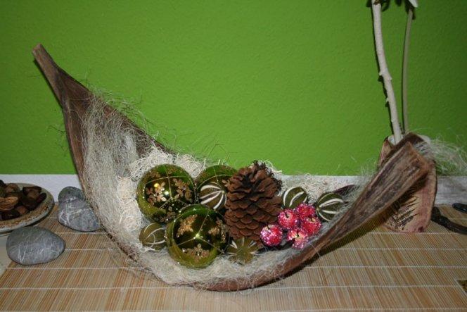 weihnachtsdeko 39 kleiner blickfang im flur 39 lebe bunt und. Black Bedroom Furniture Sets. Home Design Ideas