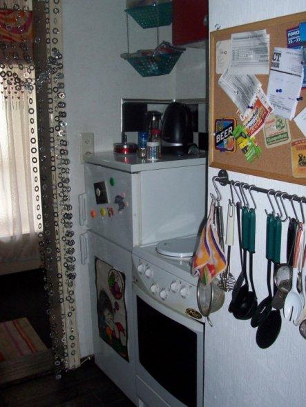 Ofen und Kühlschrank