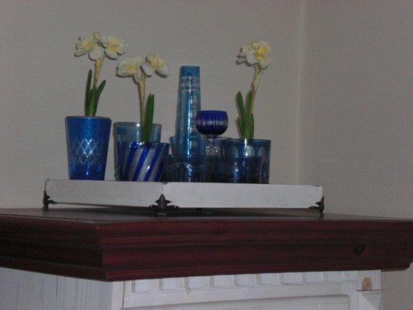 meine Gläsersammlung im Esszimmer
