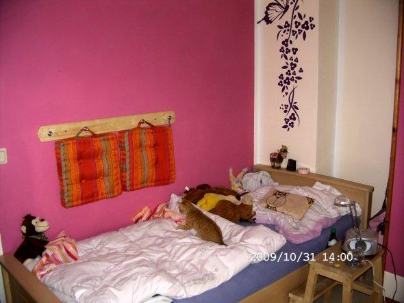 """Die Wandkissen mussten auch wieder an die Wand. Hier ist auch unser neuer Kater """"Willi"""" zu sehen, er ist jetzt 10 Wochen alt."""