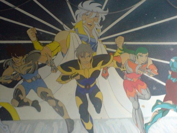 Manga Zimmerwand Maße langen bei 3x4 m
