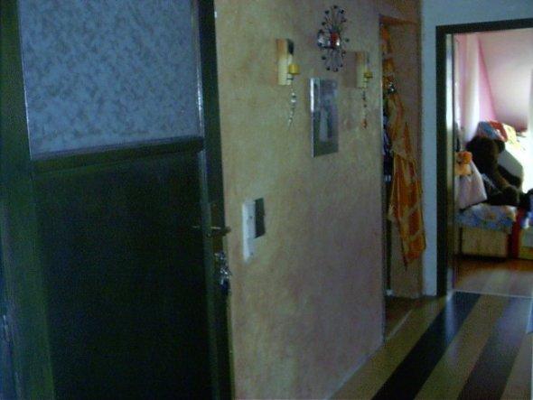 Eingangsbereich, Flur zum Kinderzimmer, weiter hinten links geht's zum Schlafzimmer und Bad.