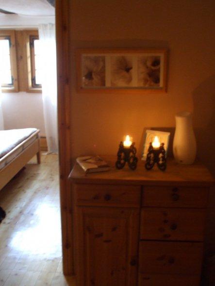 Wohnzimmer 'Durchgangszimmer/begehbarer Kleiderschrank'
