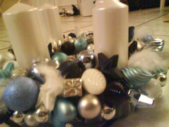Weihnachtsdeko 'Adventskranz Eigenherstellung :D'