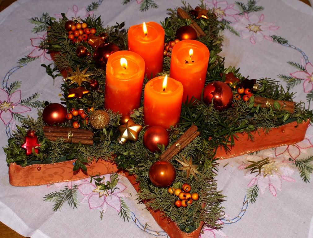 Weihnachtsdeko 39 adventsdeko 39 unser zuhause zimmerschau - Adventsdeko bilder ...