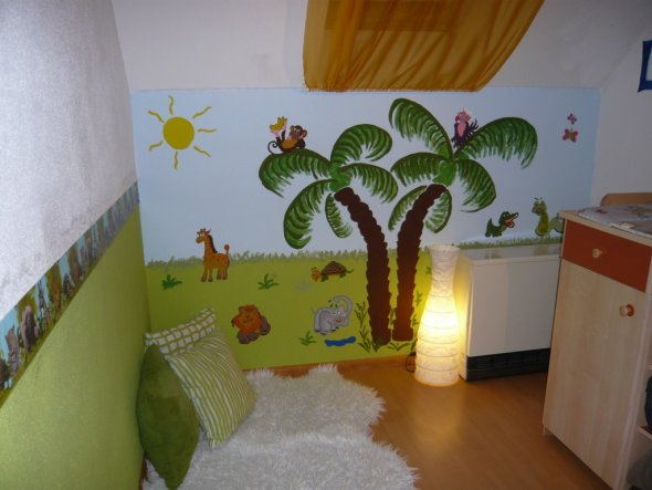 kinderzimmer 39 jungle room 39 kinderzimmer zimmerschau. Black Bedroom Furniture Sets. Home Design Ideas