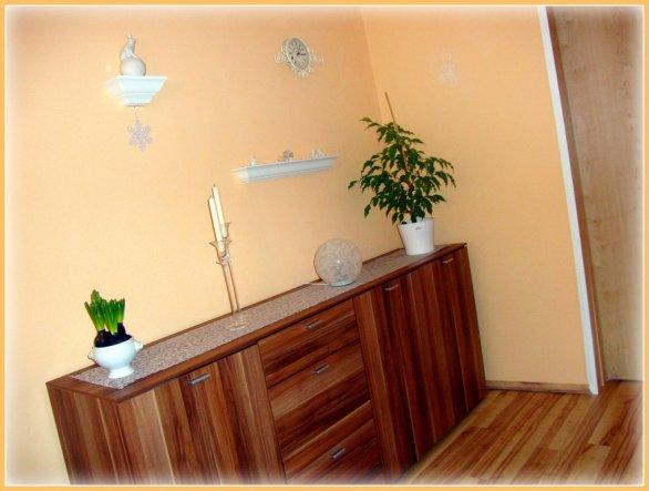 Esszimmer 39 esszimmer 39 unser kunterbuntes reich zimmerschau - Wandfarbe apricot ...