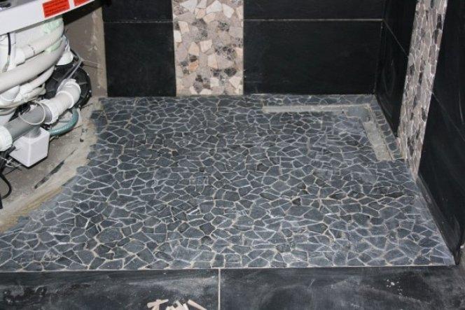 Boden der Dusche